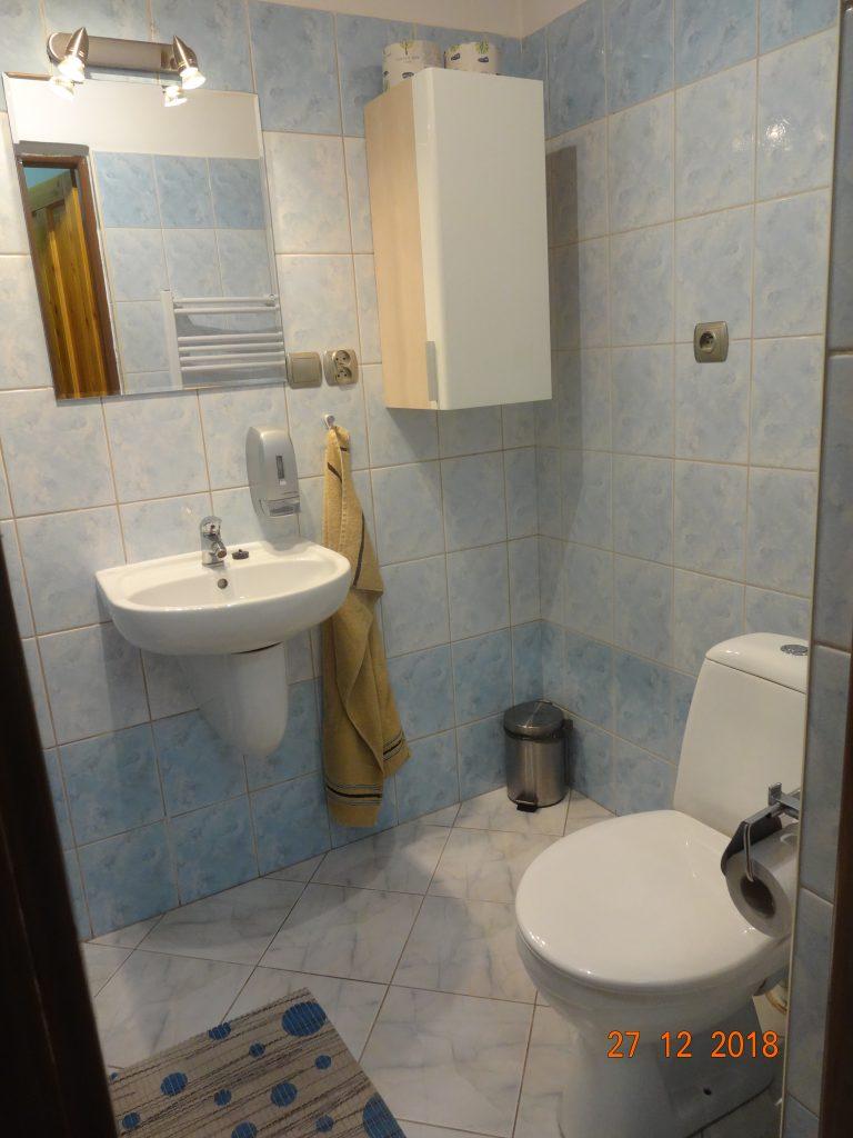 Horní apartmán, koupelna s WC