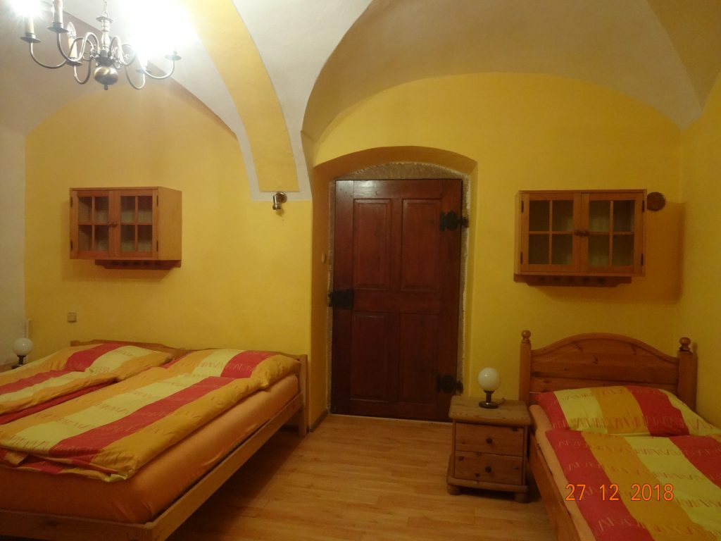 Ložnice dolní apartmán